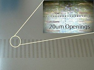 20um Shadow Mask made by laser manufacturing
