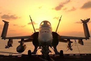 Aerospace and Defense hornet f a18 aircraft carrier 300x200px