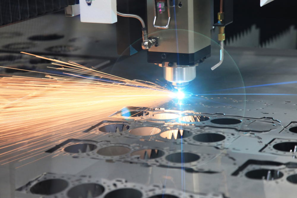 laser cutting parts for an engine