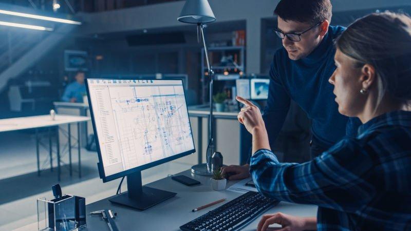 engineer using laser cut titanium in a CAD designed prototype